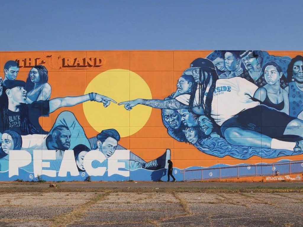 peace wall in New Orleans