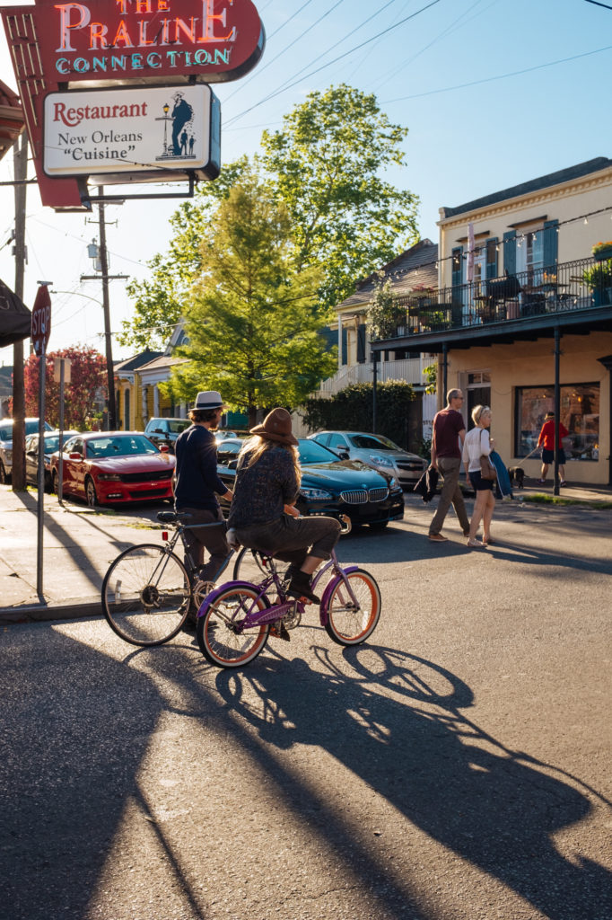 cyclists in New Orleans