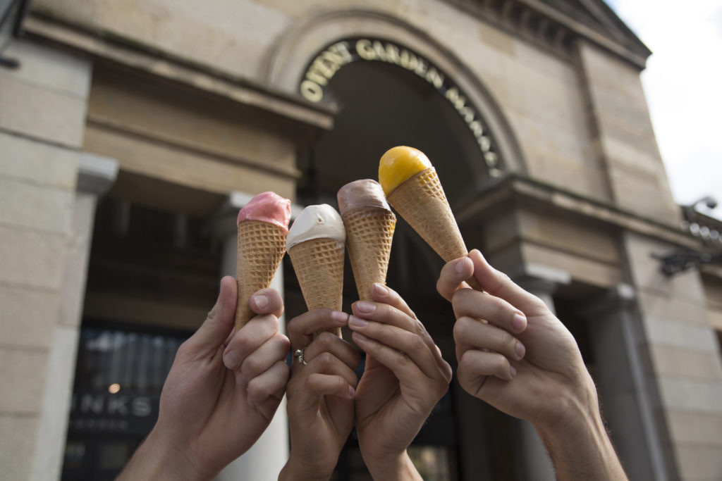 ice creams in the air