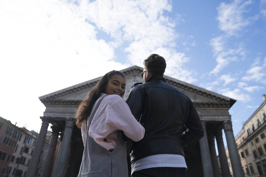 girl and guy in rome