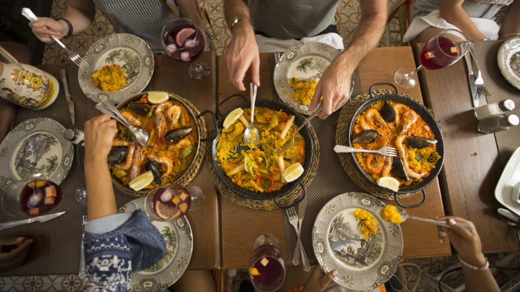 paella feast in Spain