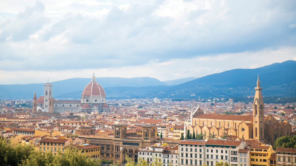 birds eye view over Florence