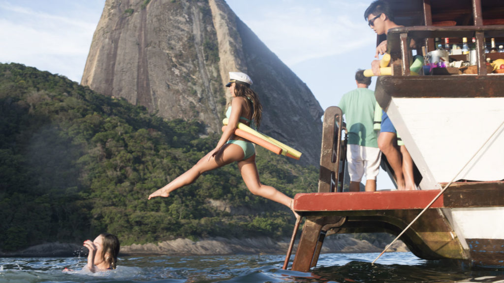 jumping off a boat in rio, brazil