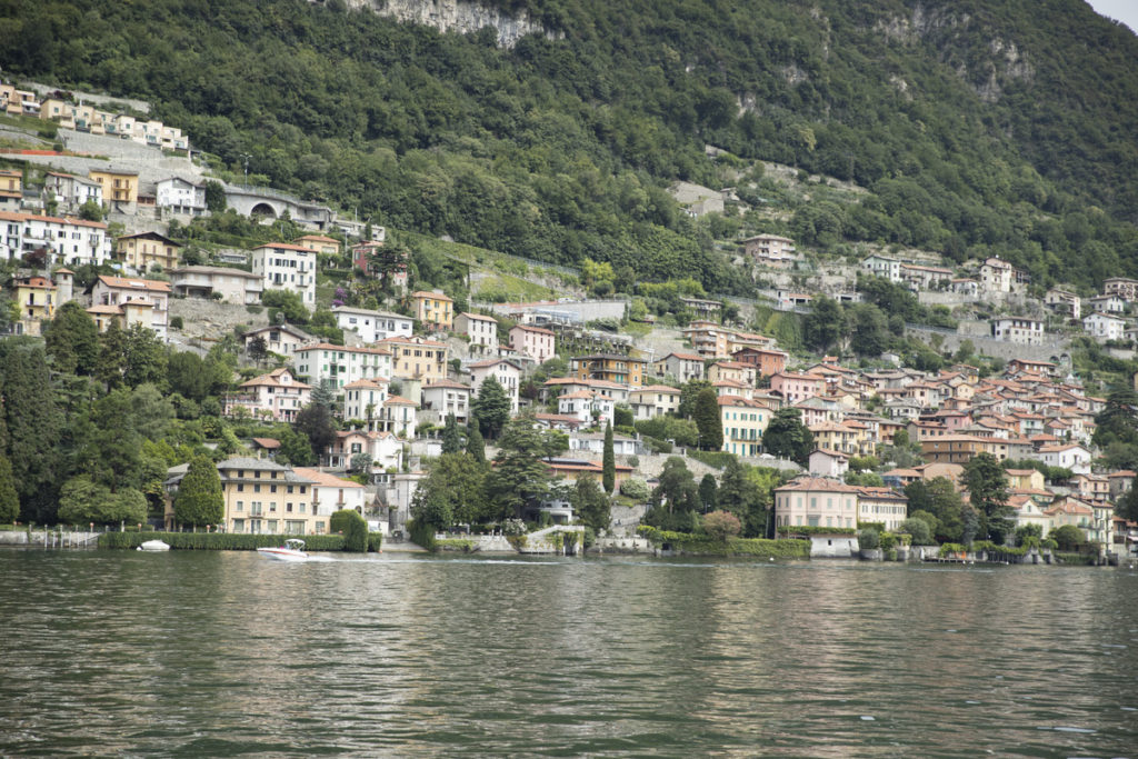Lake Como hillside from the water
