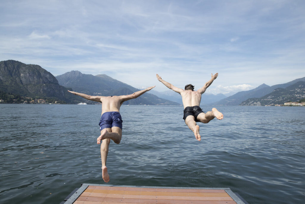 Diving into Lake Como