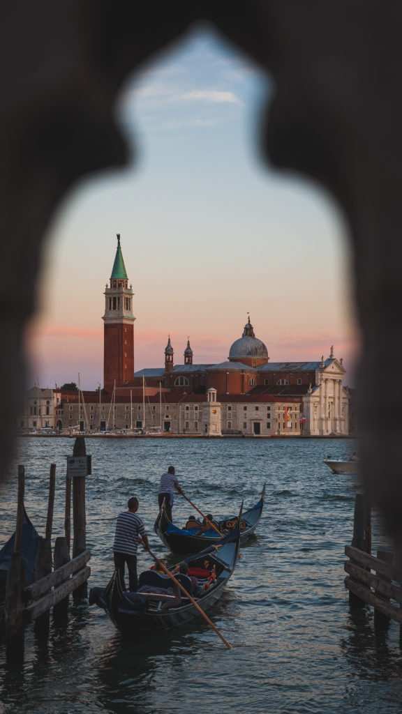 gondolas in Venice, photographed by earth Focus