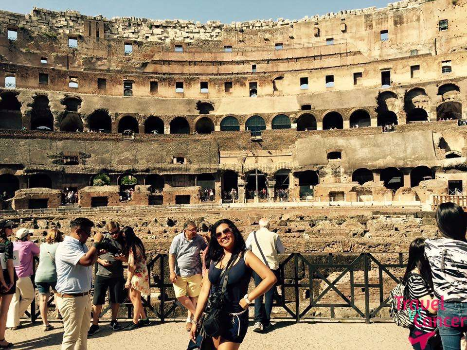 Karla standing in the colosseum