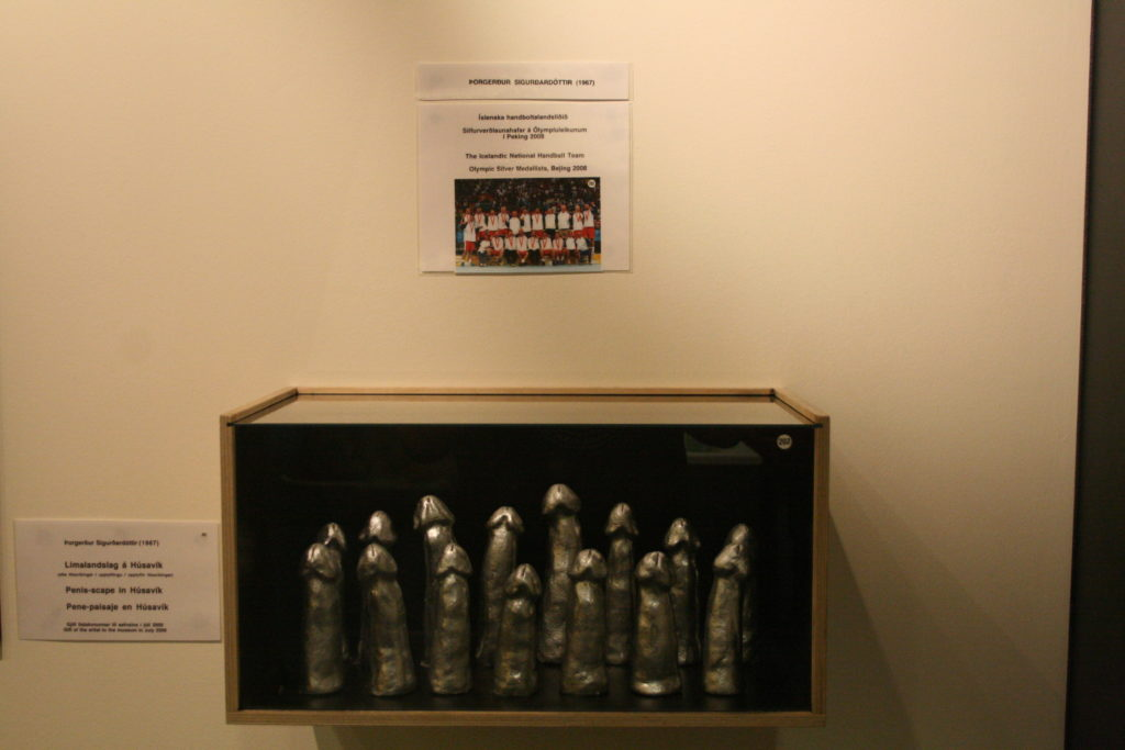 Iceland national handball team penis sculptures at the iceland penis museum