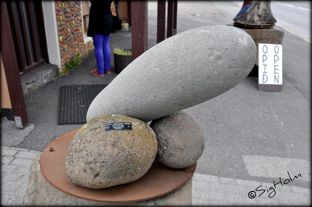 stone art penis at the iceland penis museum