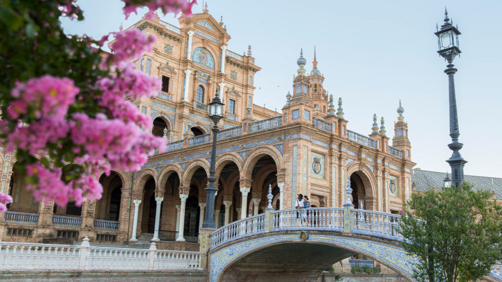 travel to spain for the beautiful architecture