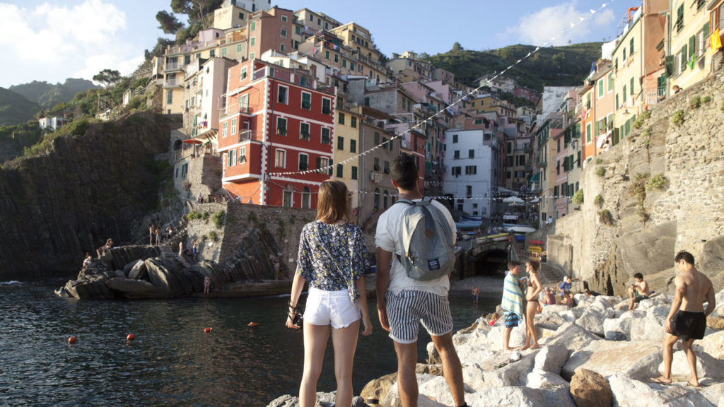 trip to Italy - couple in cinque terre