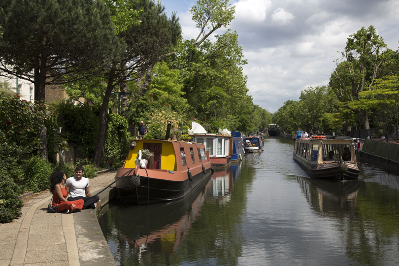Instagrammable locations - a canal in london