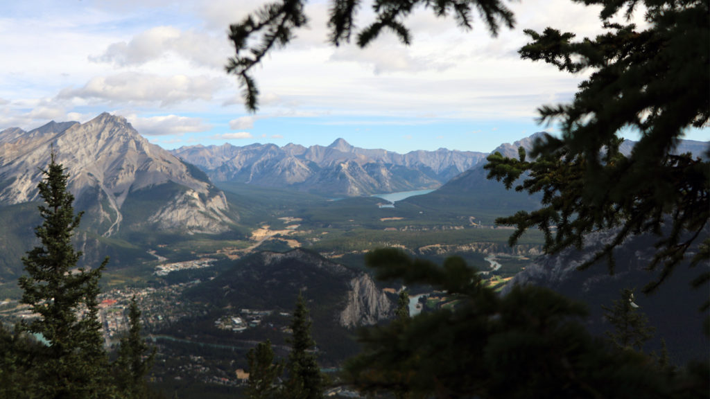 view over banff