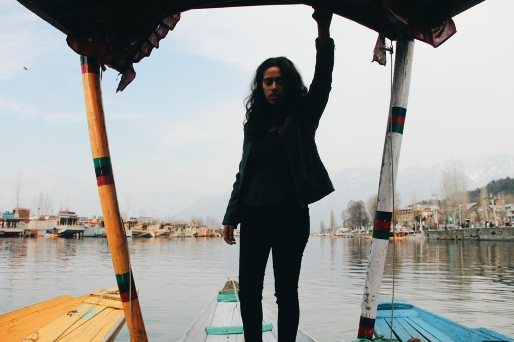 Sonia on boat