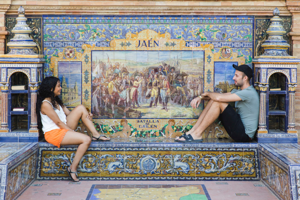 Two friends mosaic seville