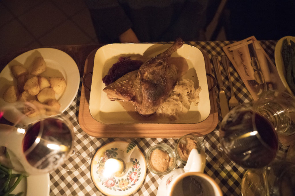 German roast goose