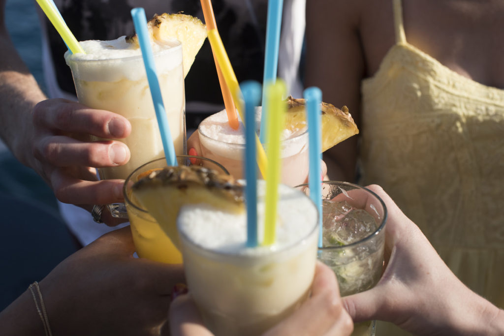 Group with cocktails - things to do in croatia