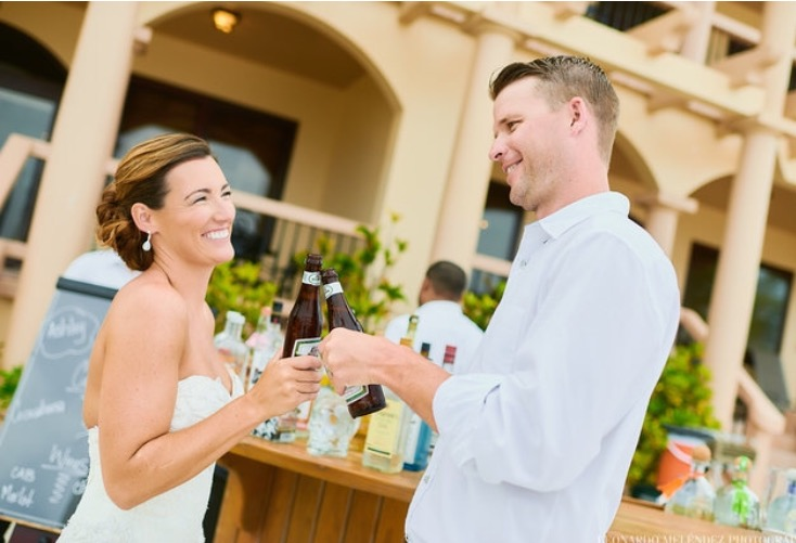 Ash and husband on wedding day, Contiki Love Stories