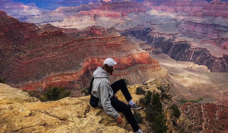 Take in sweeping panoramic views of the Grand Canyon