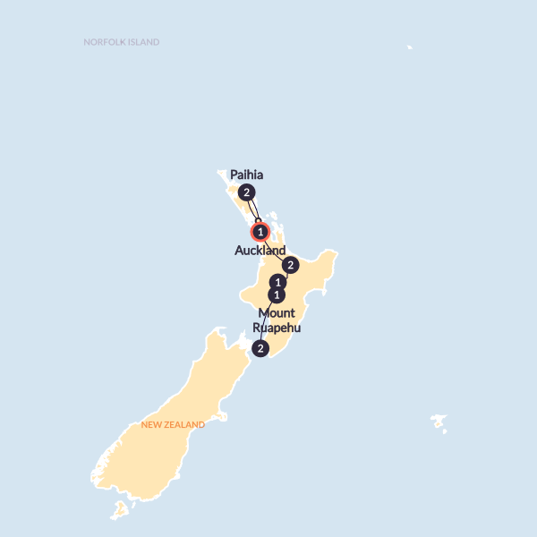 Northern Choice (Wellington to Auckland Summer)(Multi Share,Start Wellington, End Auckland)