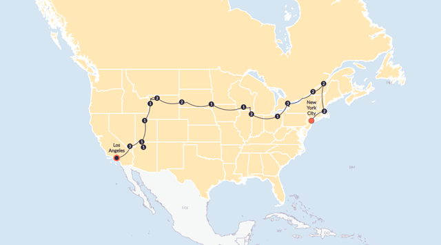 Grand Northern Until March 2020 Tour Contiki - Mount-rushmore-on-us-map
